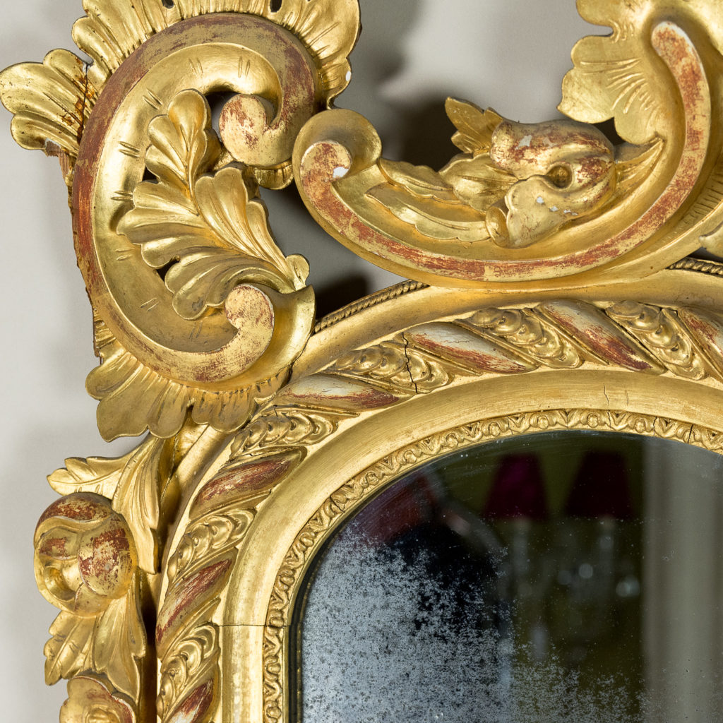 Large nineteenth century French giltwood mirror,-138693