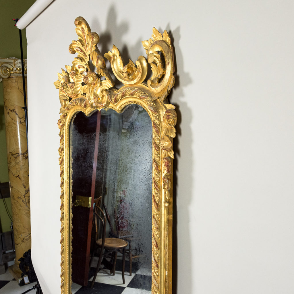 Large nineteenth century French giltwood mirror,-138696