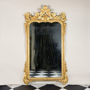 Large nineteenth century French giltwood mirror,