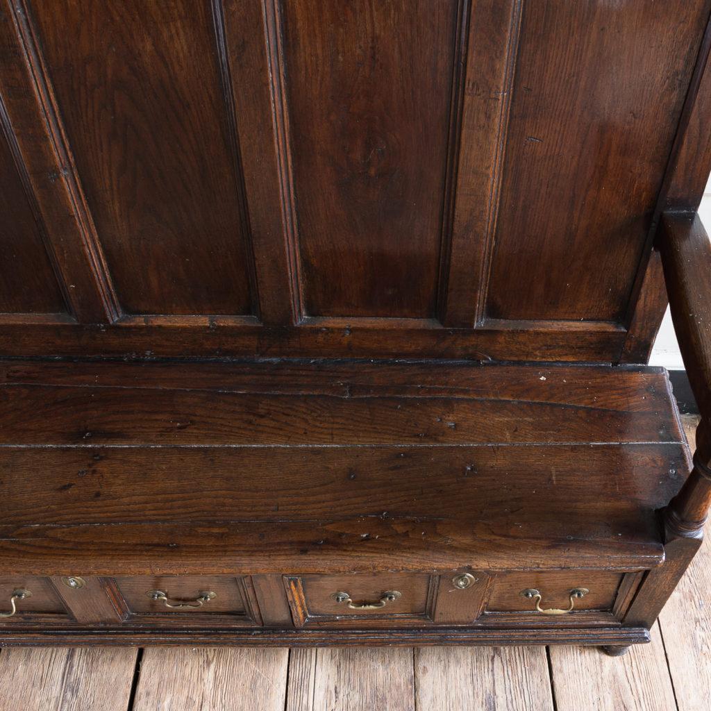George II oak settle,-138518