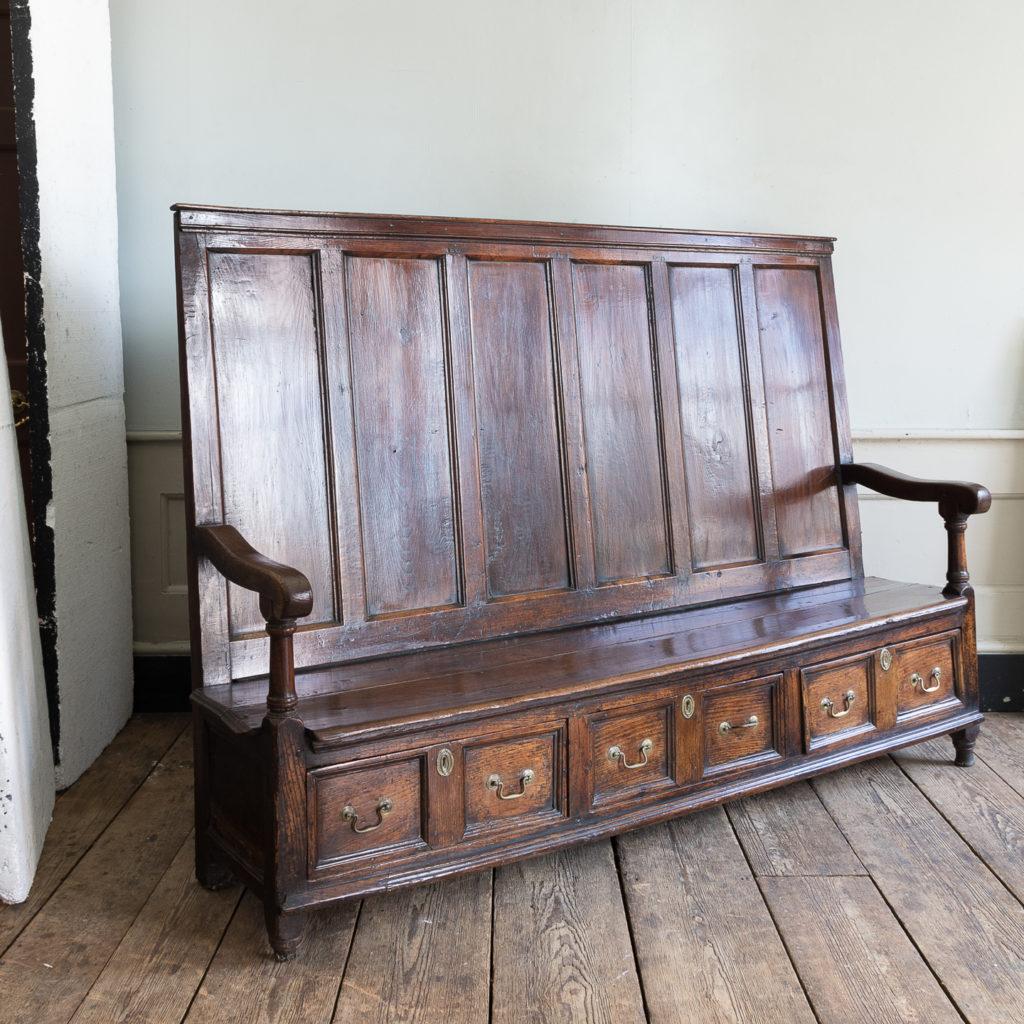 George II oak settle,