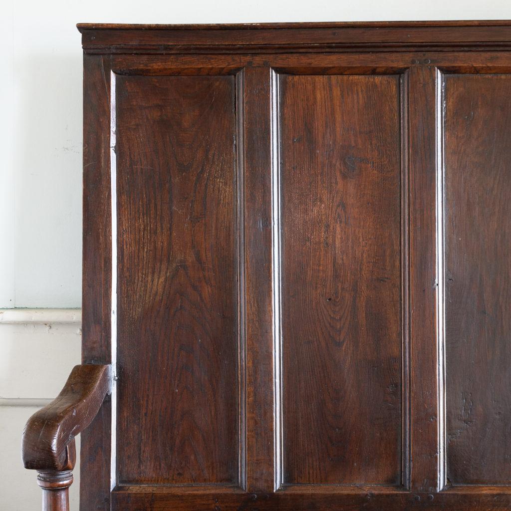 George II oak settle,-138506