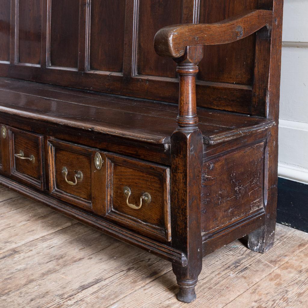 George II oak settle,-138509