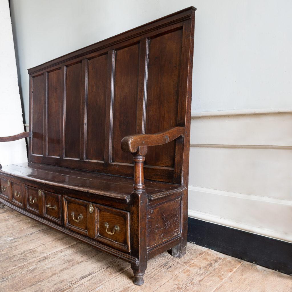 George II oak settle,-138508