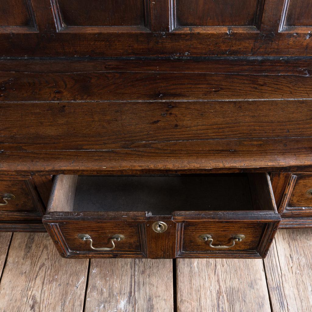 George II oak settle,-138507
