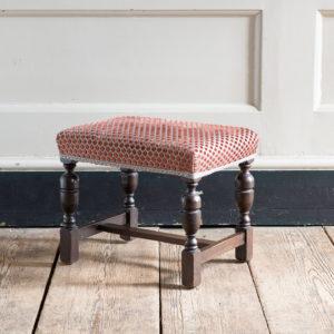 Jacobean revival oak foot stool,