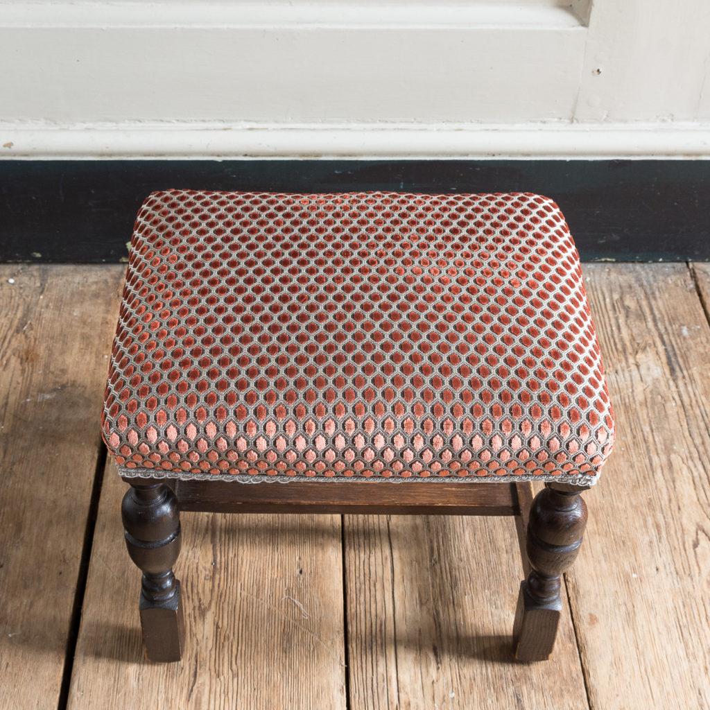 Jacobean revival oak foot stool,-138528