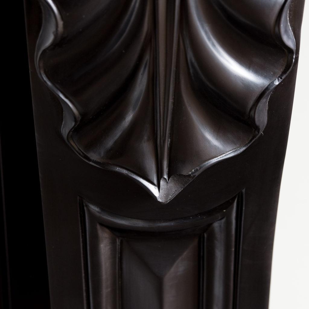 French Napoleon III Belgian Black marble chimneypiece,-138396