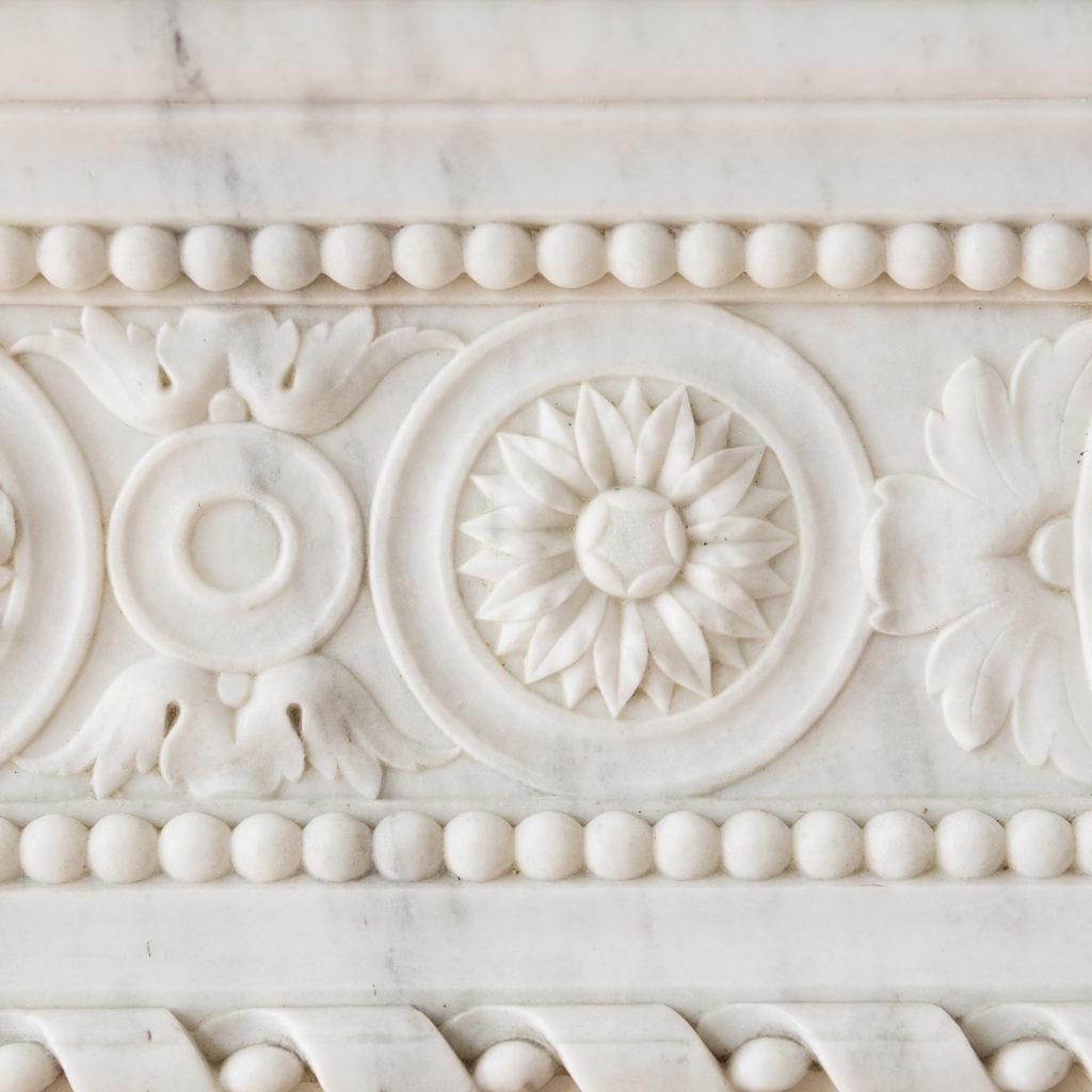 Fine Louis XVI Carrara marble fireplace, -138449