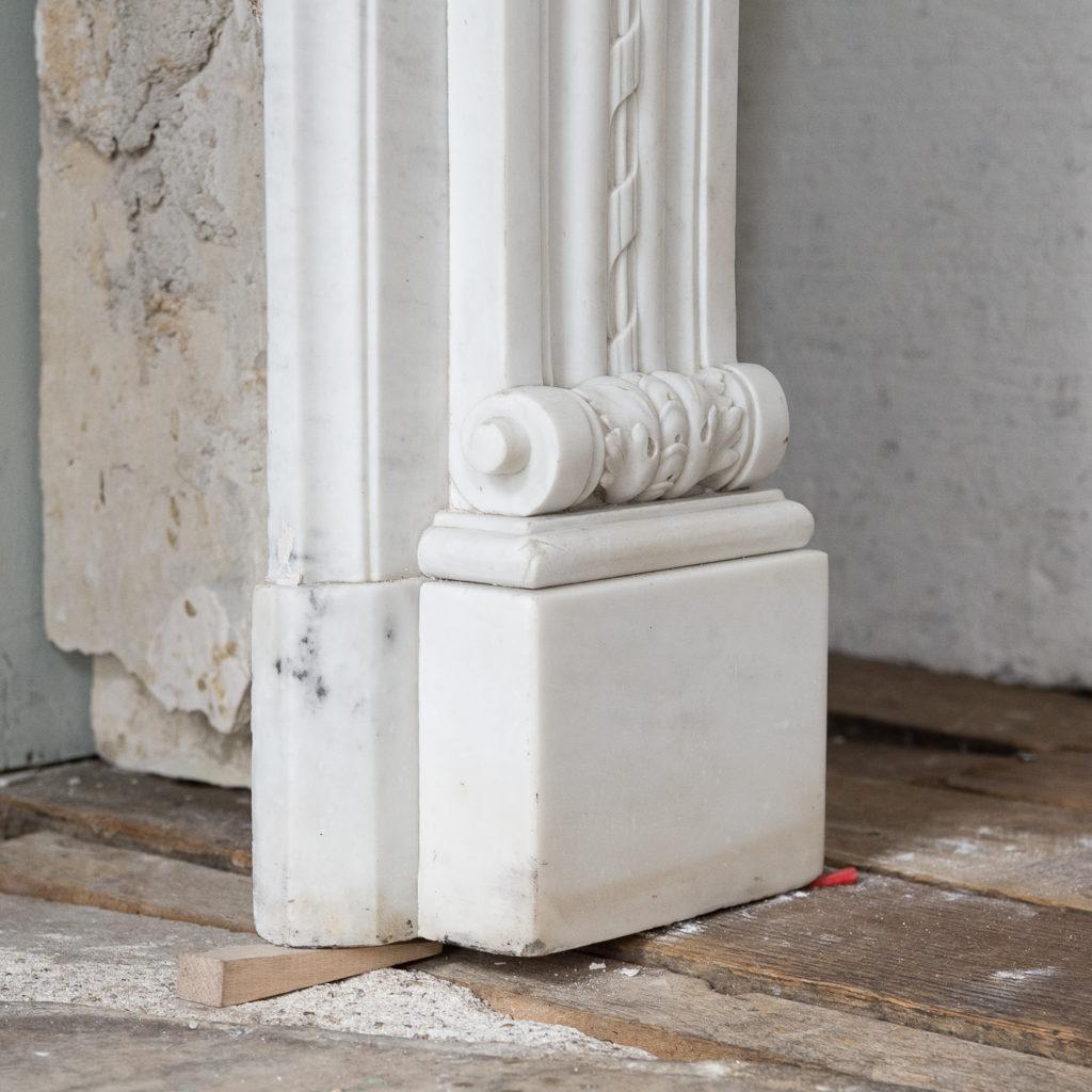 Fine Louis XVI Carrara marble fireplace, -138454