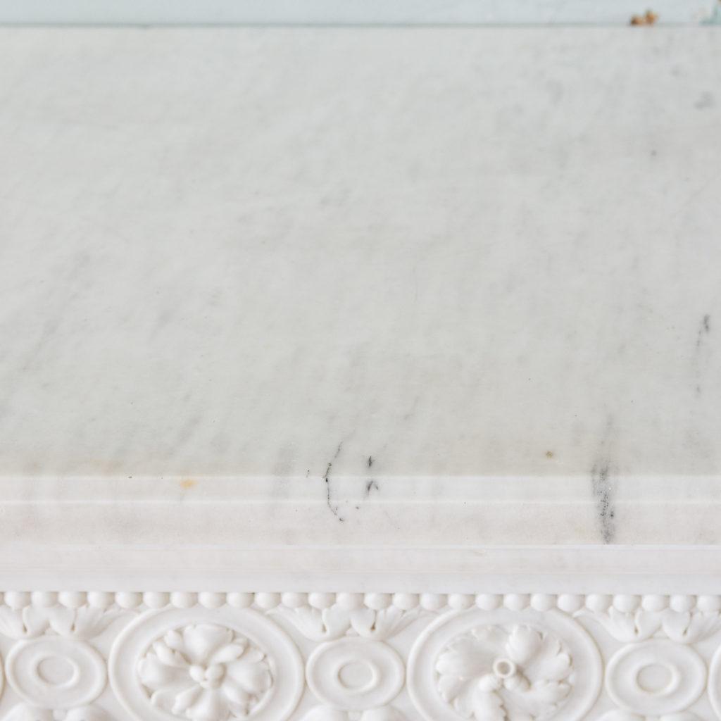 Fine Louis XVI Carrara marble fireplace, -138457