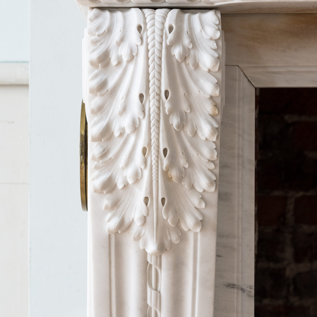 canthus clasped scrolled console jambs with woven detail running down the centre