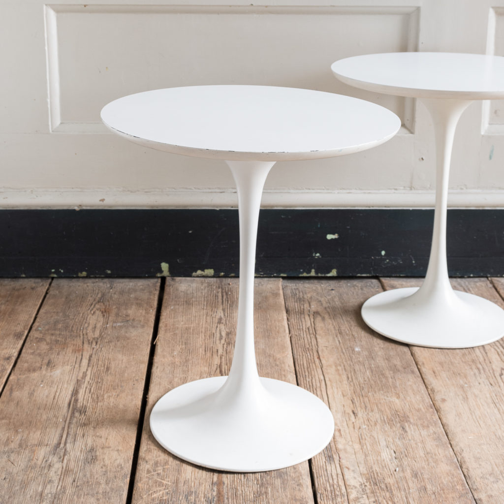 Pair of 1960s tulip side tables by Maurice Burke for Arkana,
