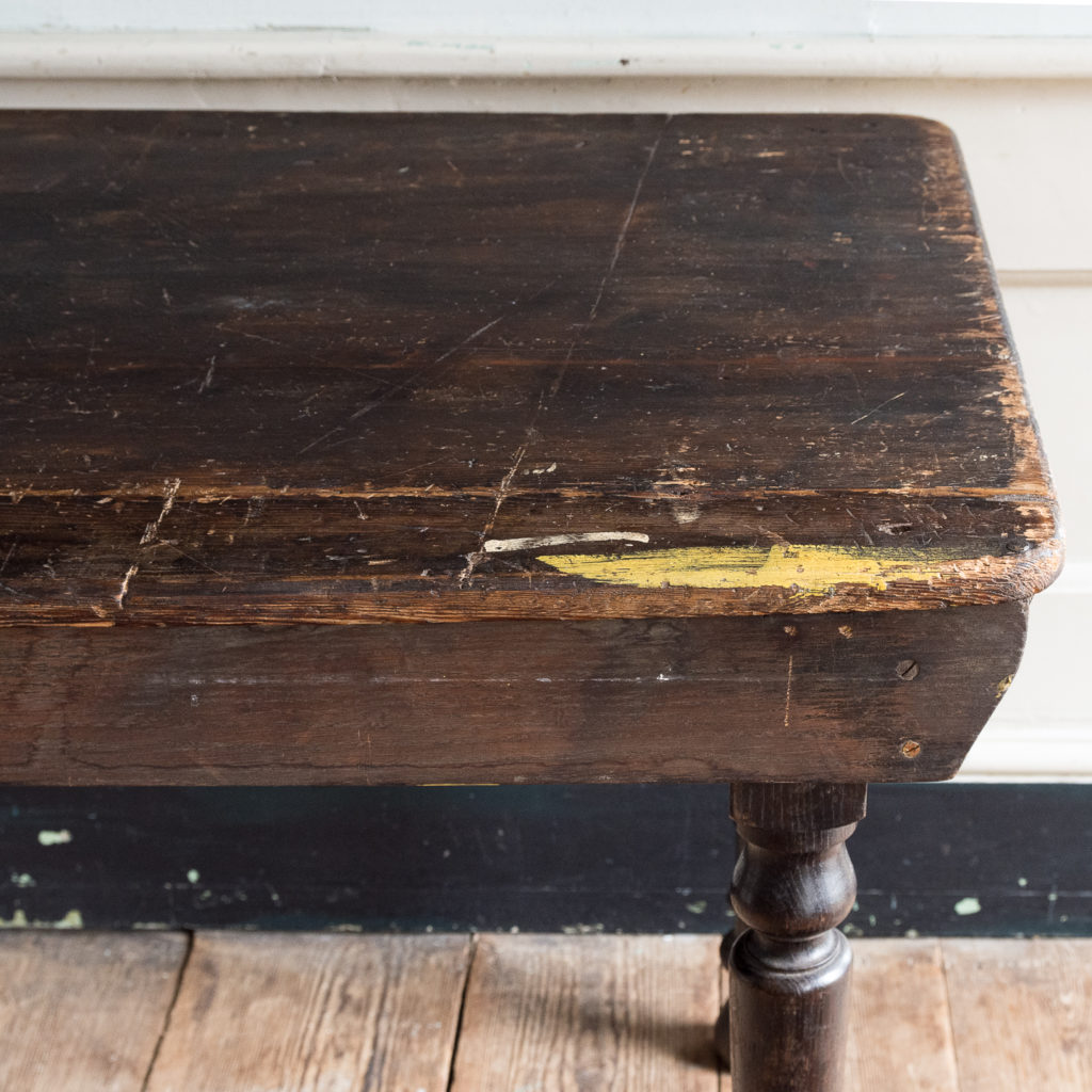 Victorian oak and pine table,-138732