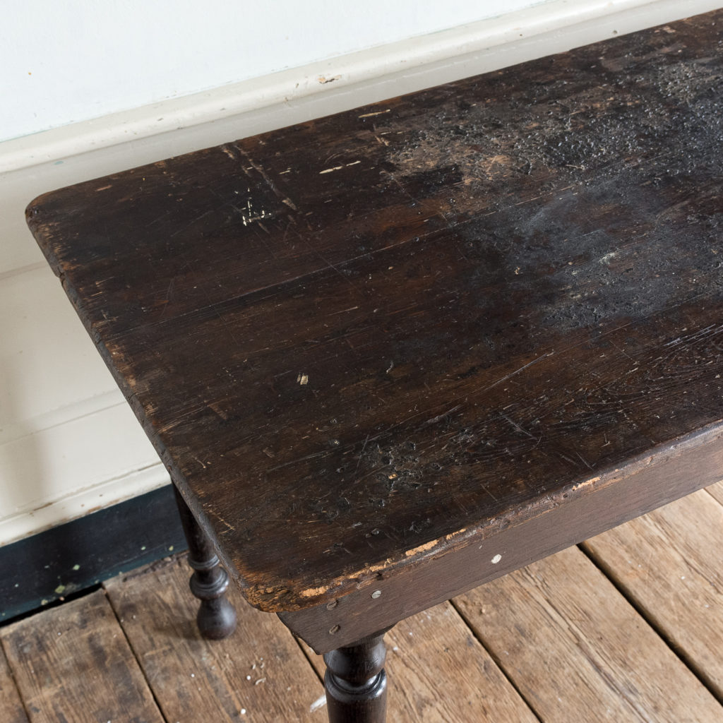 Victorian oak and pine table,-138733