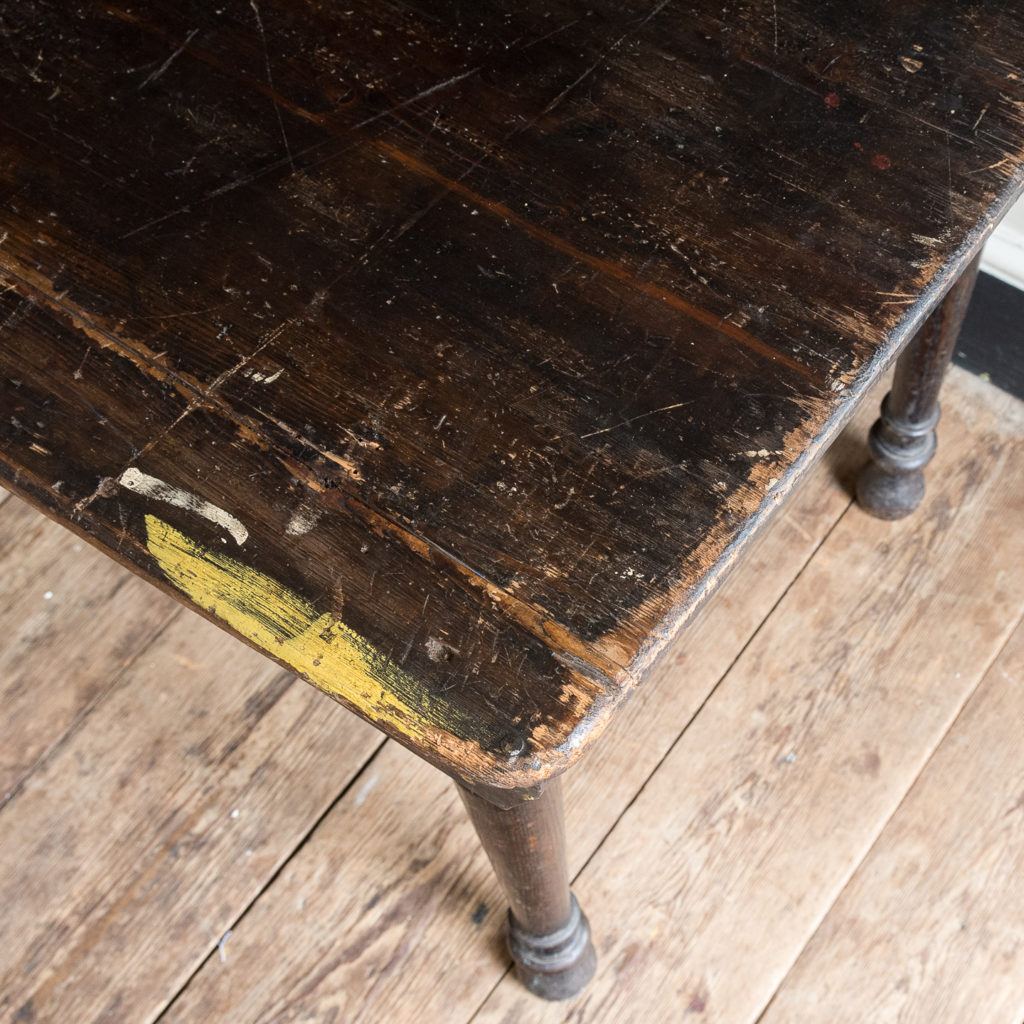 Victorian oak and pine table,-138735