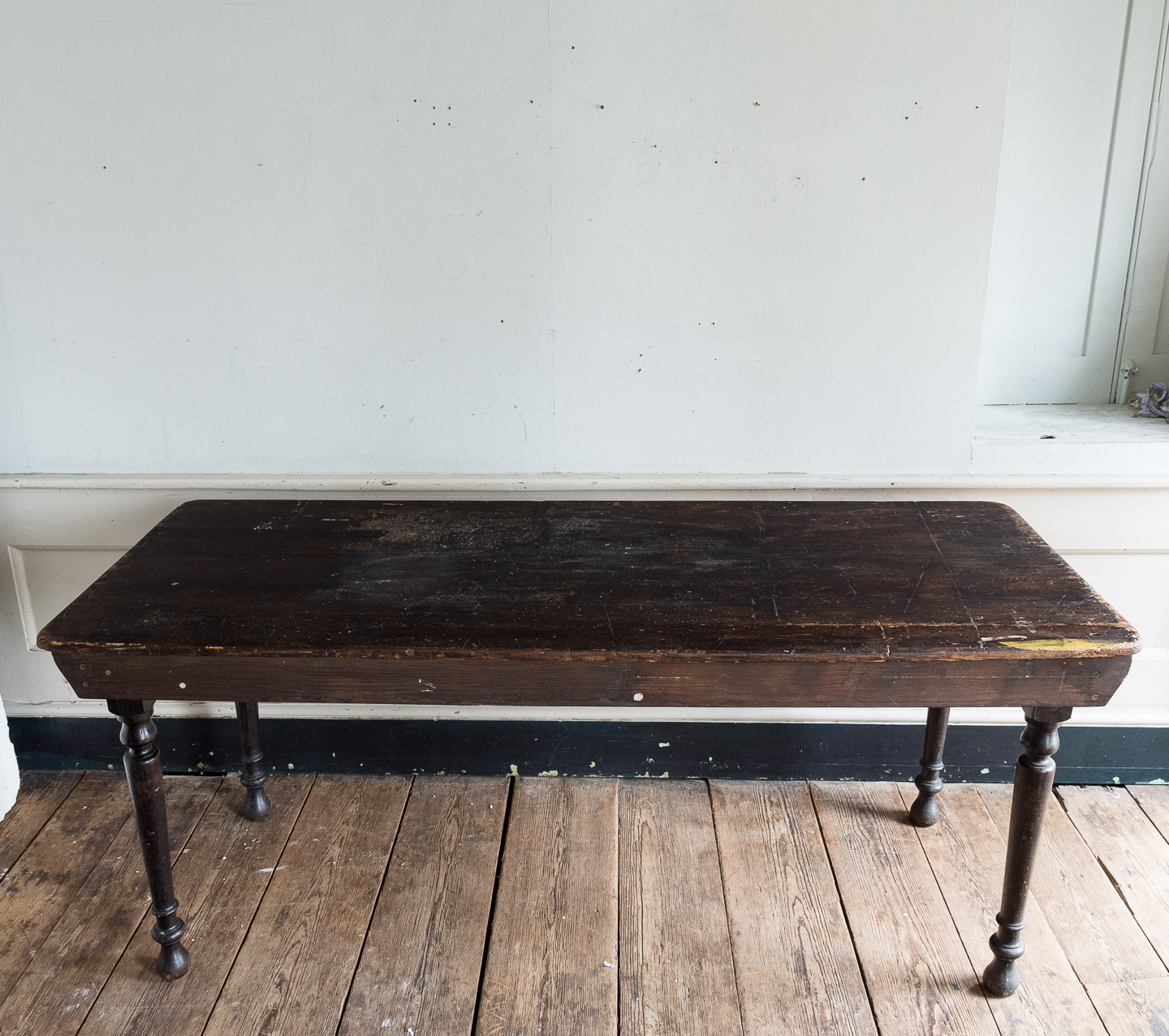 Victorian oak and pine table,-138736