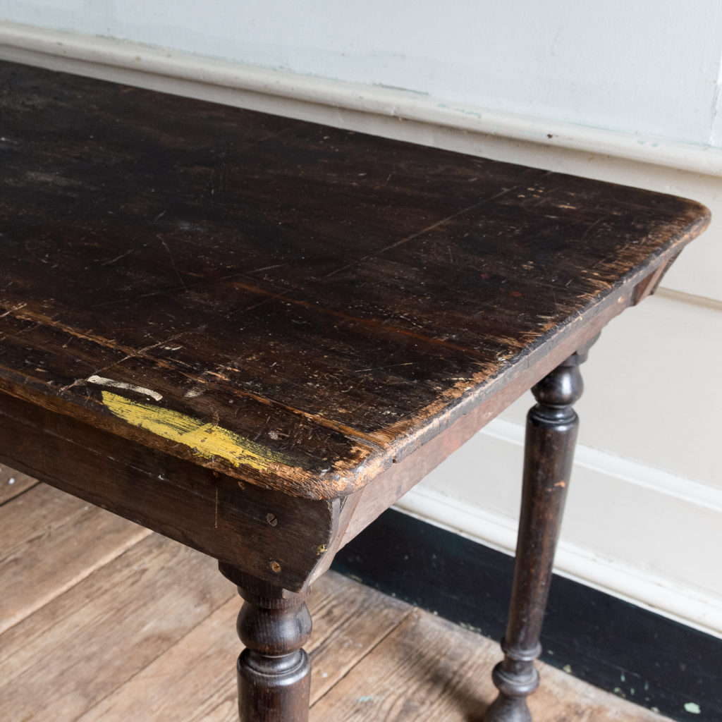 Victorian oak and pine table,-138738