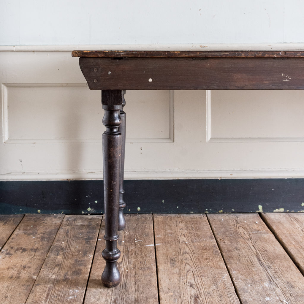 Victorian oak and pine table,-138725