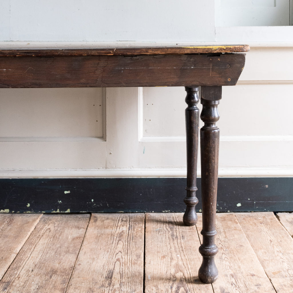 Victorian oak and pine table,-138727