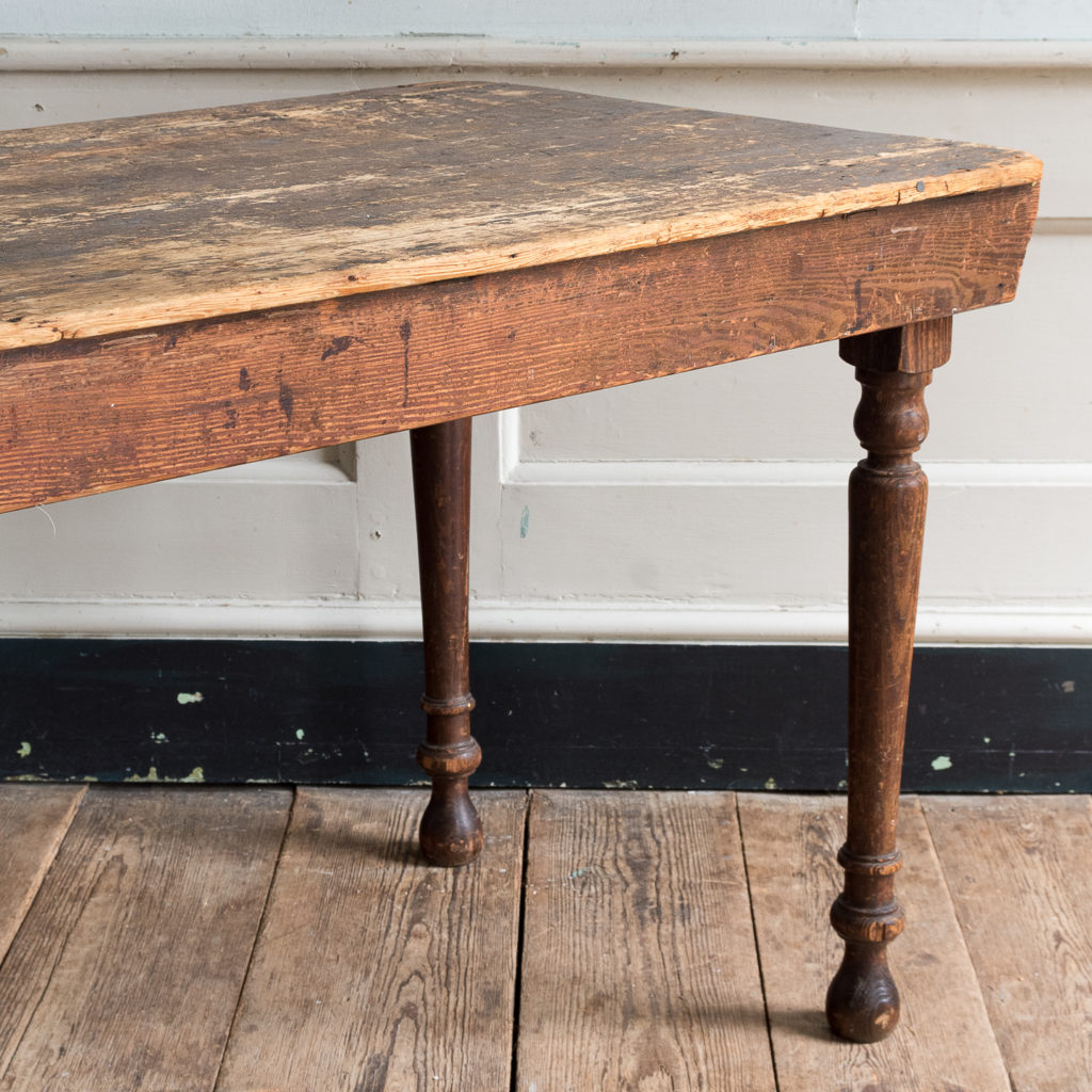 Victorian oak and pine table,-138765