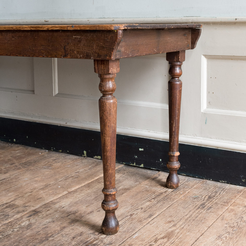 Victorian oak and pine table,-138767