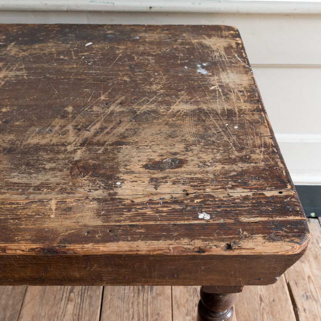 Victorian oak and pine table,-138766