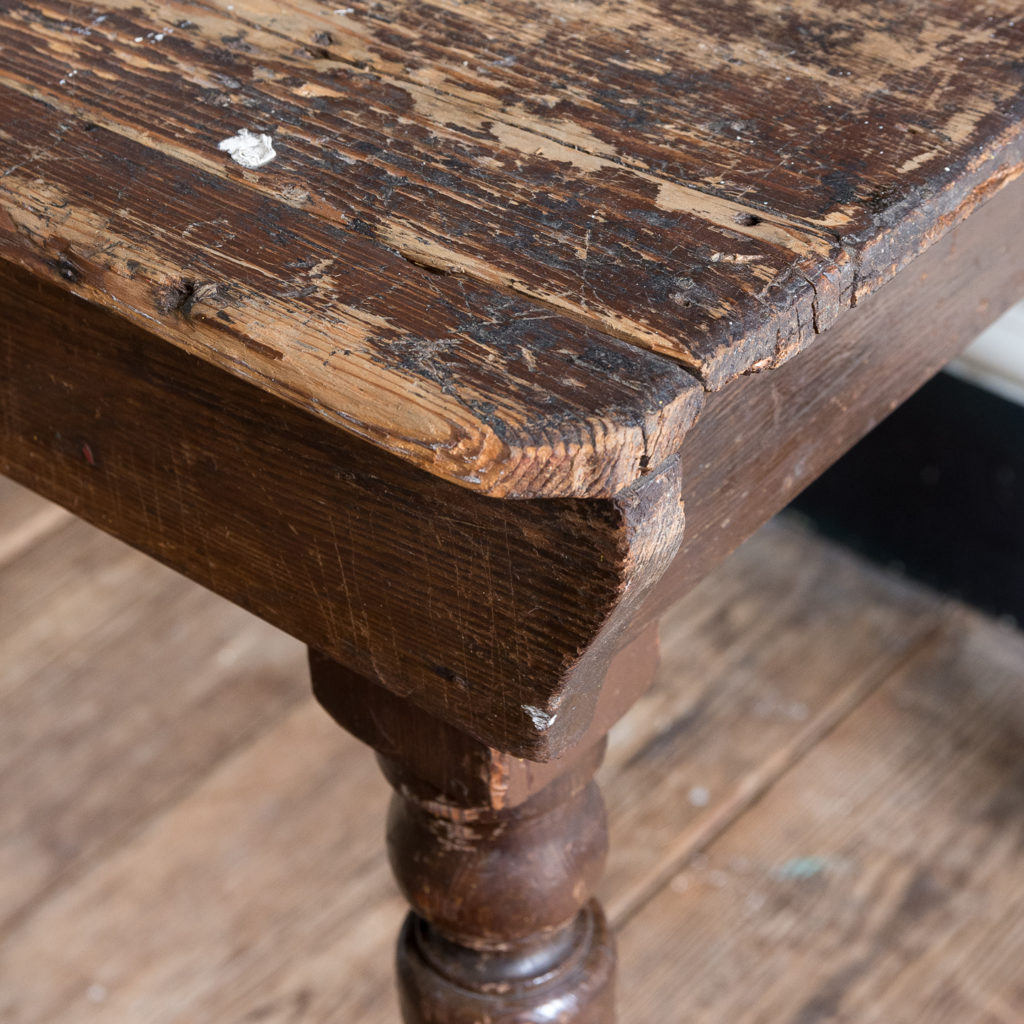 Victorian oak and pine table,-138768