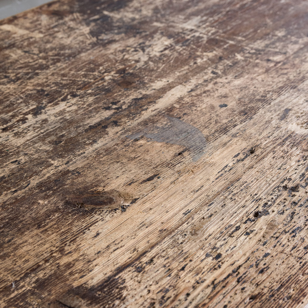 Victorian oak and pine table,-138769