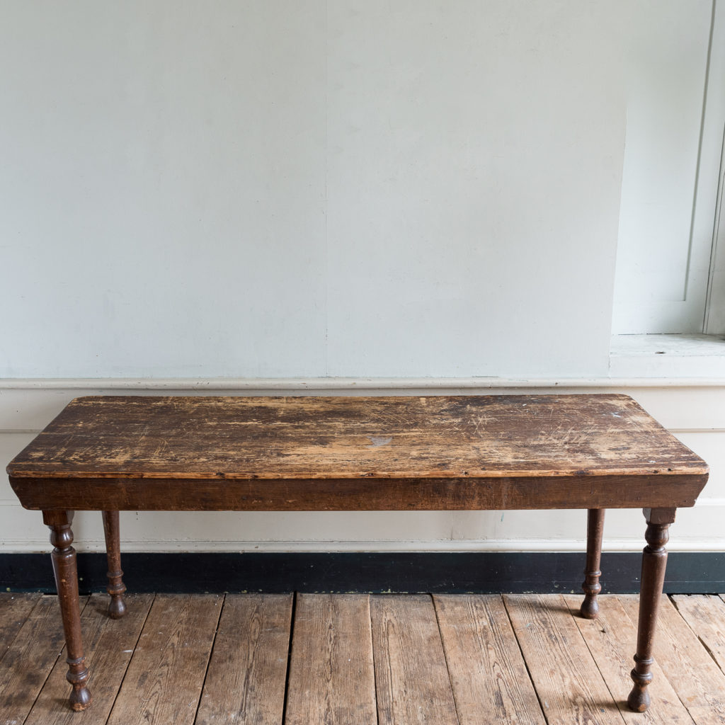 Victorian oak and pine table,-138771