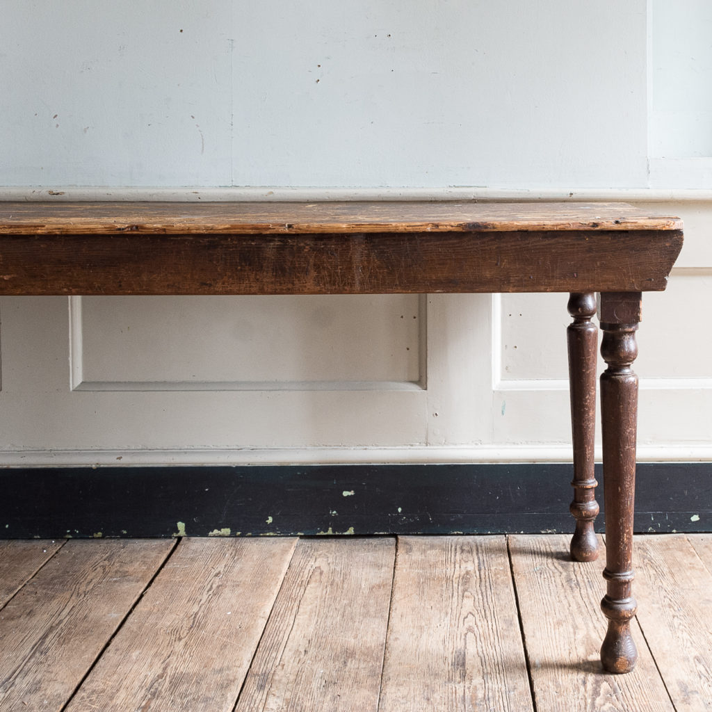 Victorian oak and pine table,-138761
