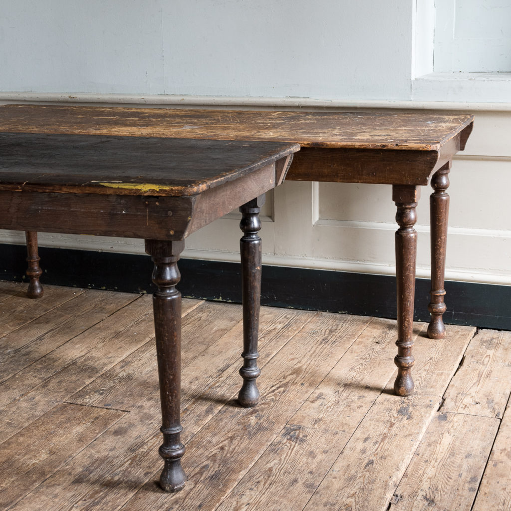 Victorian oak and pine table,-138739