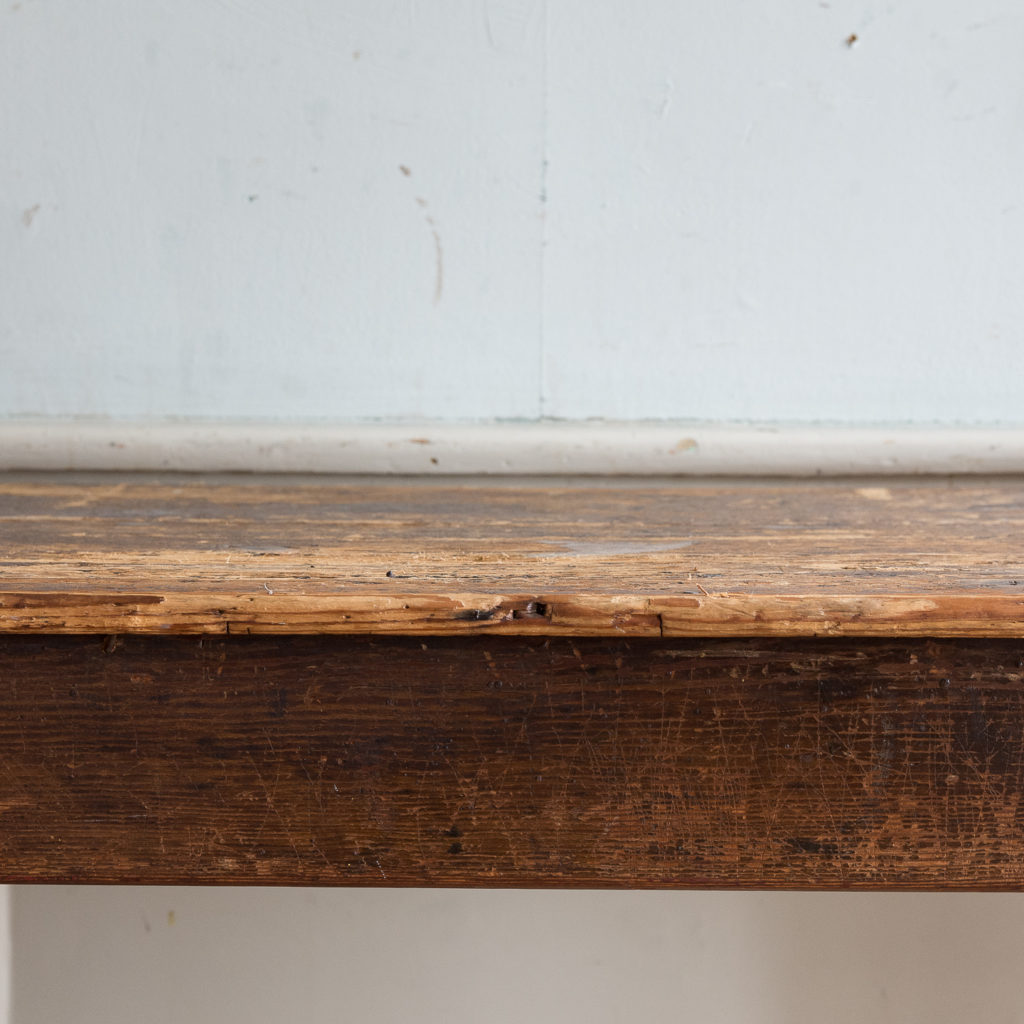 Victorian oak and pine table,-138760