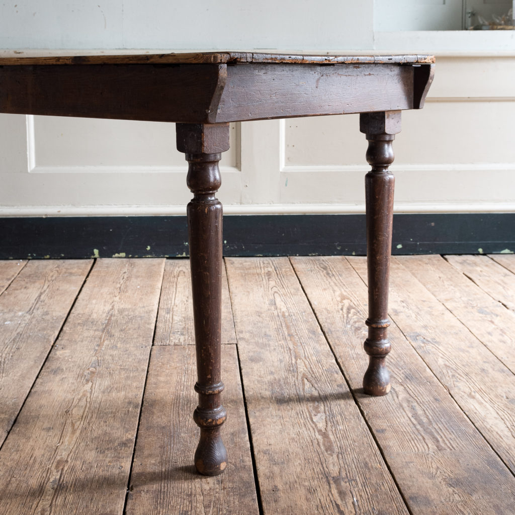 Victorian oak and pine table,-138762