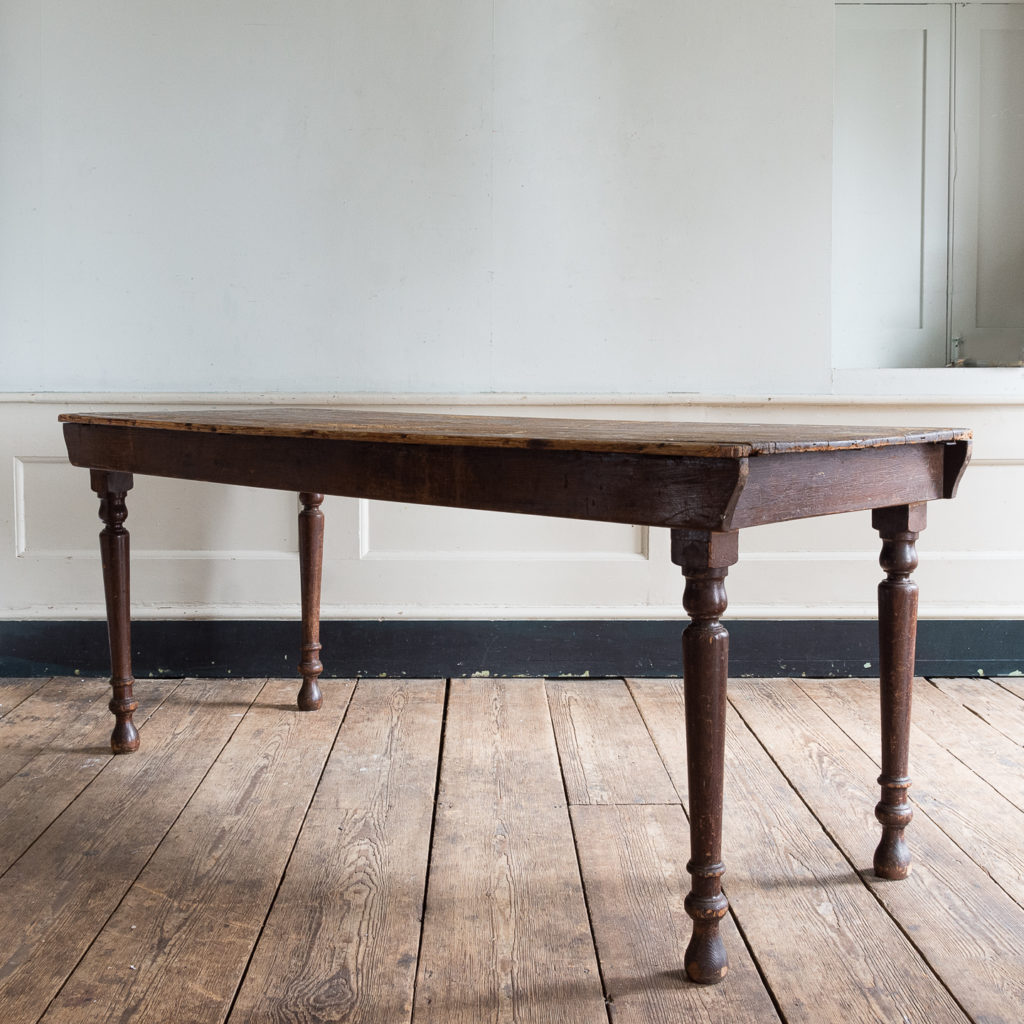 Victorian oak and pine table,-138763