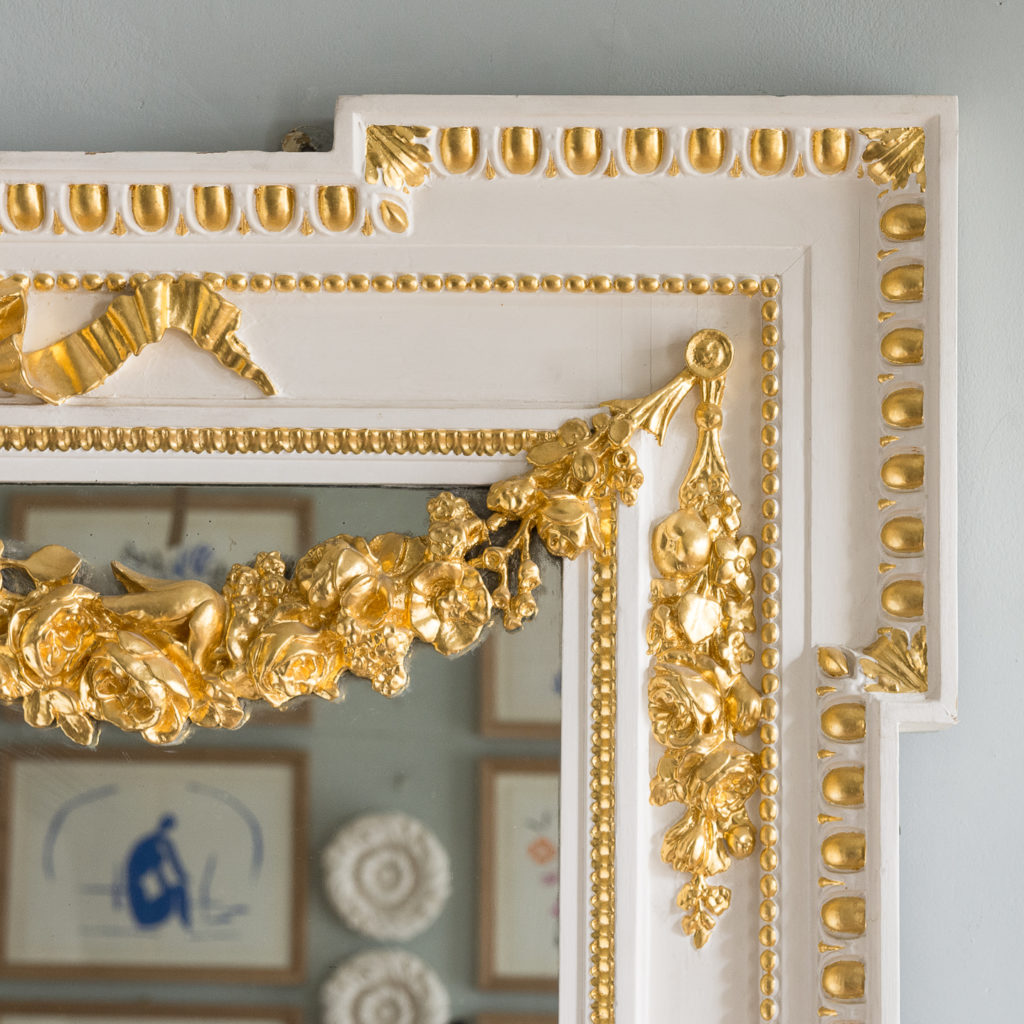 Louis XVI style parcel-gilt boiserie mirror,-138710
