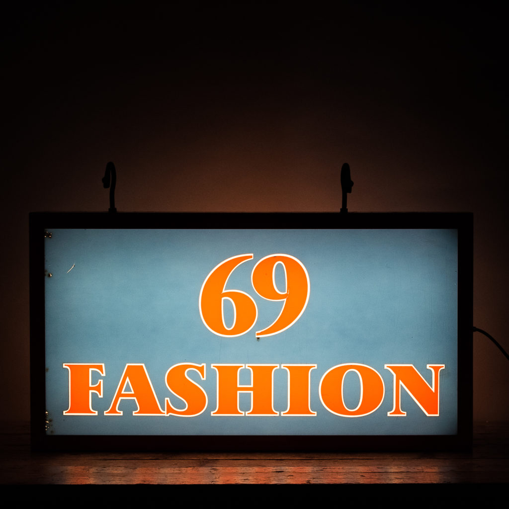 'Fashion 69' illuminated sign,-0