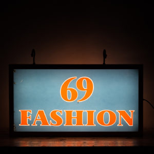 'Fashion 69' illuminated sign,-0