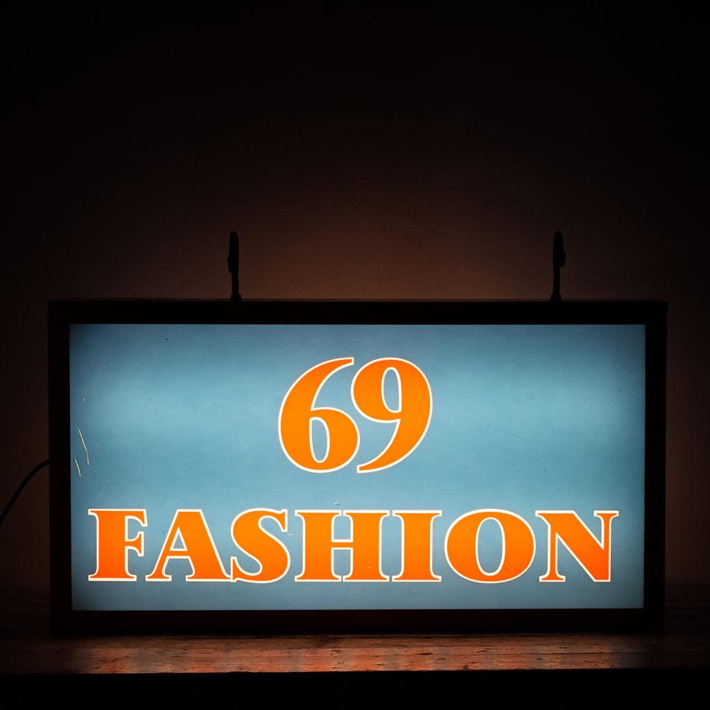 'Fashion 69' illuminated sign,-138433