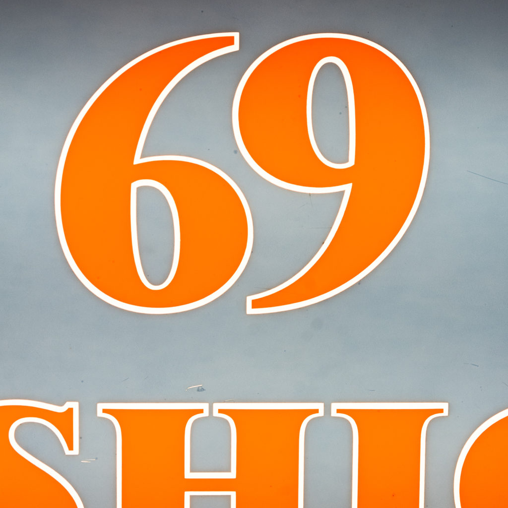'Fashion 69' illuminated sign,-138436