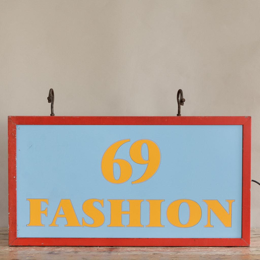 'Fashion 69' illuminated light box,