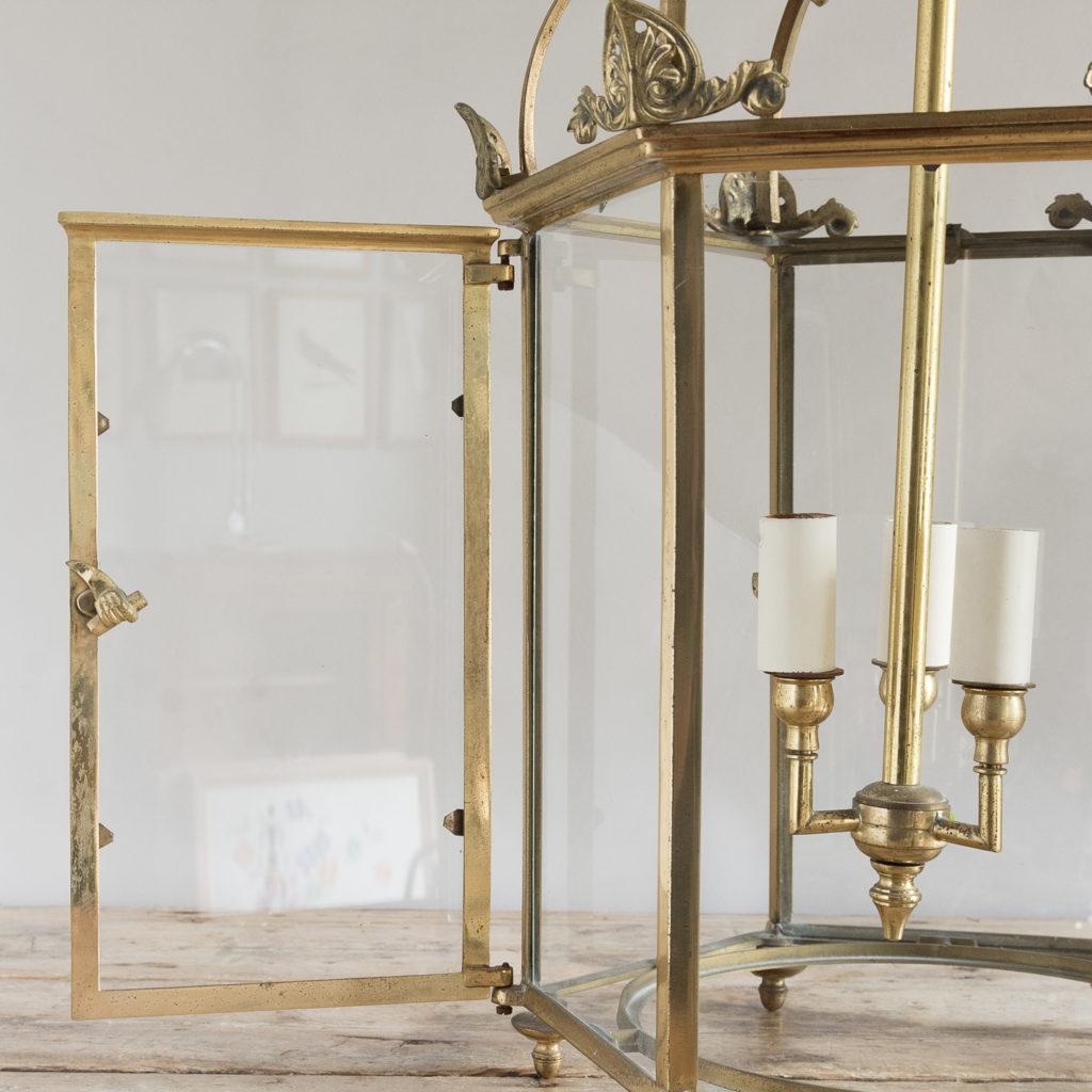 Regency style gilt brass hall lantern, -138242
