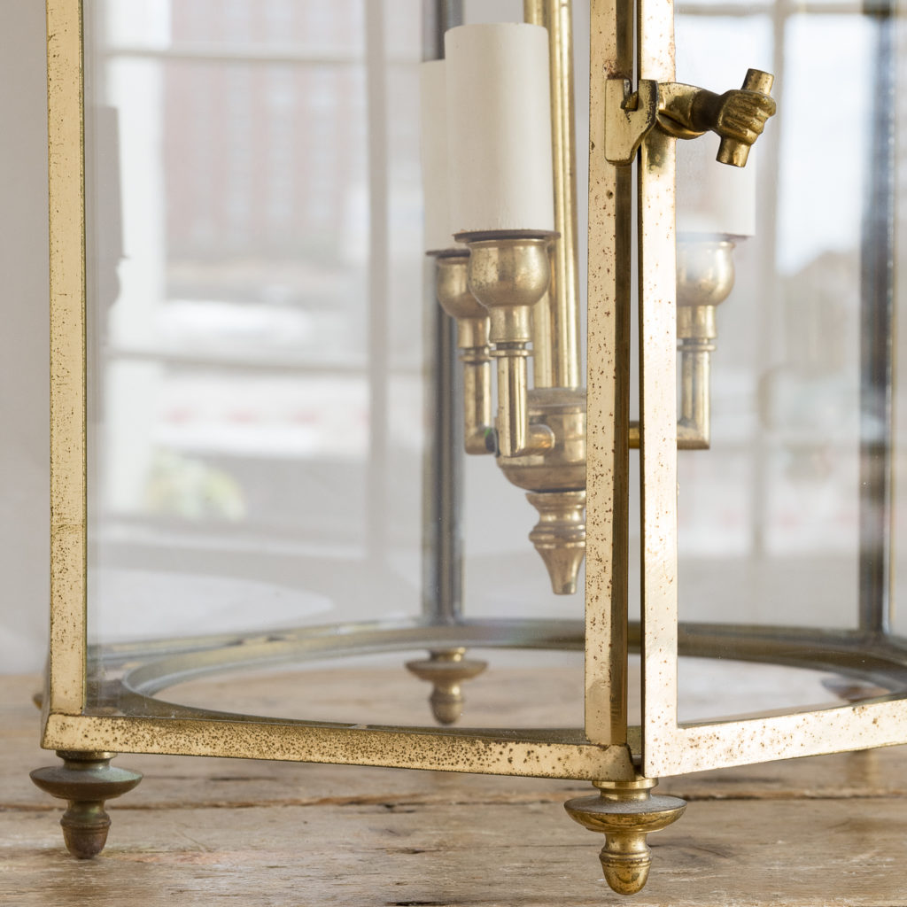Regency style gilt brass hall lantern, -138246