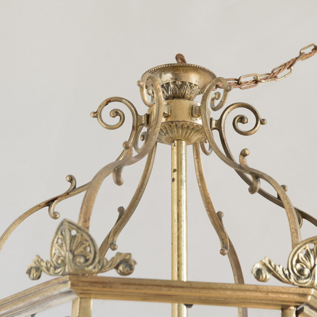 Regency style gilt brass hall lantern, -138247