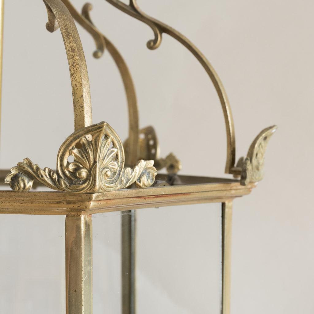 Regency style gilt brass hall lantern, -138240