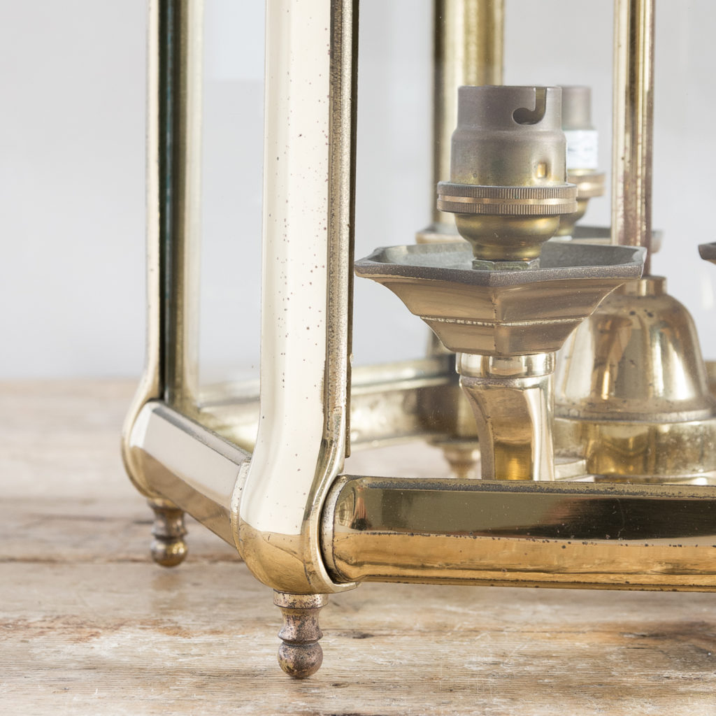 Regency style gilt brass hall lantern, -138249