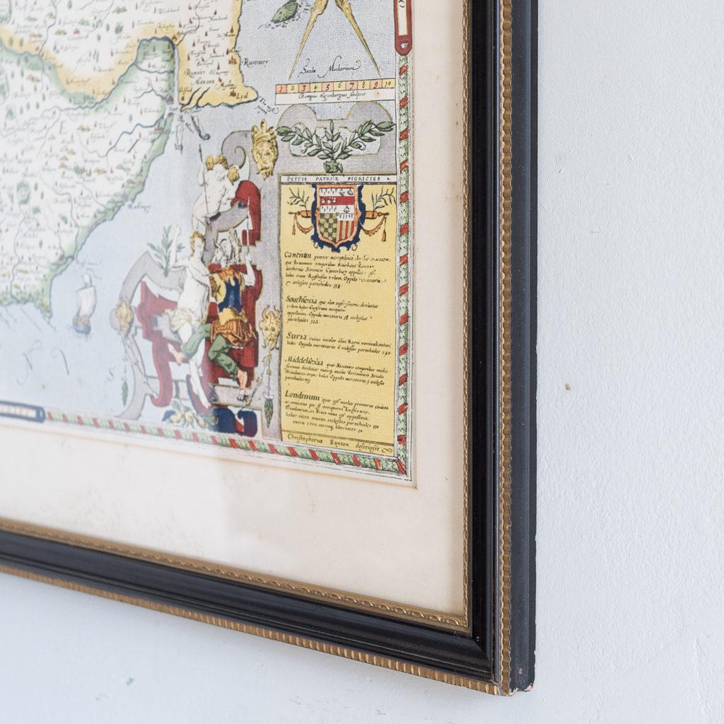Framed in Hogarth moulding.