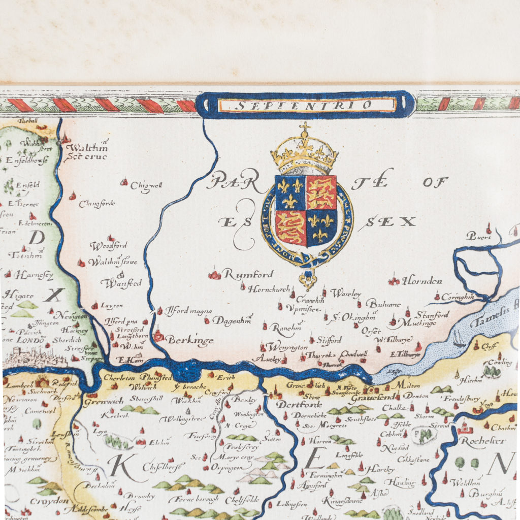Map of Kent, Sussex, Surrey and Middlesex -138589