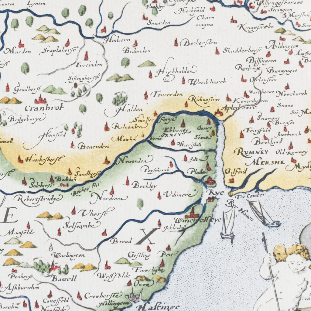 Map of Kent, Sussex, Surrey and Middlesex -138590