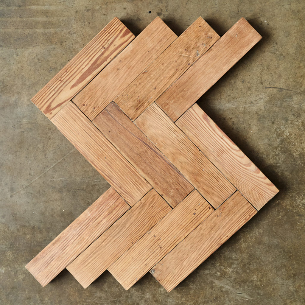 Pitch Pine Parquet Block-138374